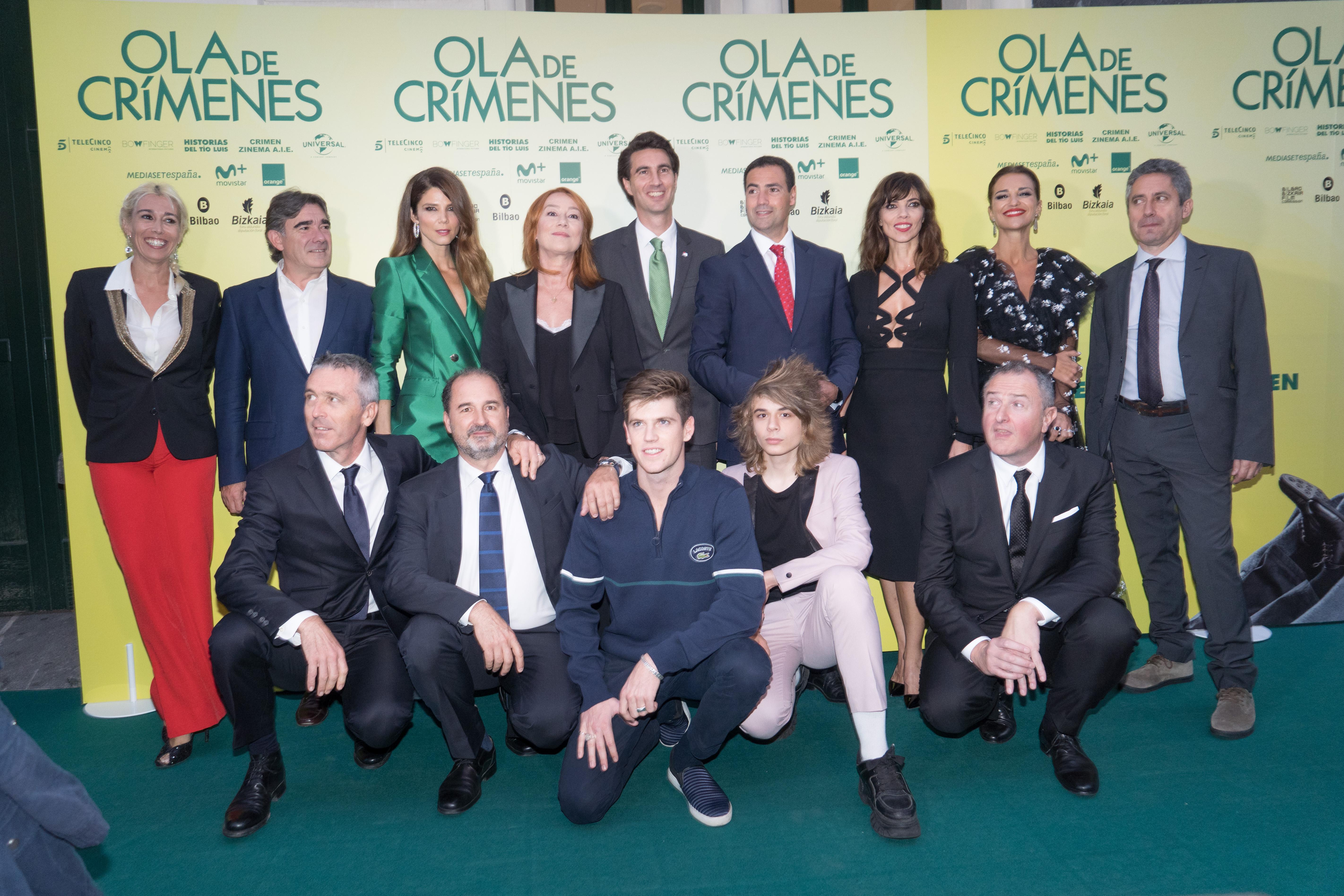 "GRACIA QUEREJETA, MARIBEL VERDÚ, PAULA ECHEVARRIA AND JUANA ACOSTA AT THE PREVIEW OF ""OLA DE CRÍMENES"" IN BILBAO"